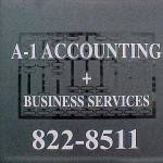 A-1 Accounting Frosted Vinyl Graphics for glass door