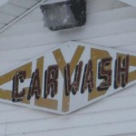 Clyde Car Wash Hand Painted
