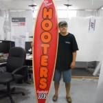 Hooters Surfboard