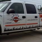 Jims Harley White Truck