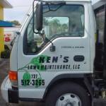 Kens Lawn Maintenance Truck Graphics