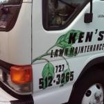 Kens Lawn Maintenance Truck Graphics2