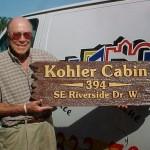 Kohler Cabin Sandblasted Sign