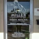 Miller Chiropractic Door Lettering