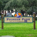 Pineer Park Sign