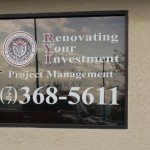 Renovate Your Investment Window Graphics