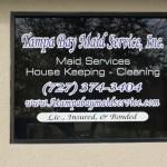 Tampa Bay Maid Service Window Graphics