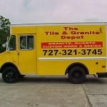 Tile & Granit Box Truck Lettering RTA