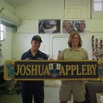 US Navy Joshua Appleby Boat Plaques with Custom Hand Carved Foam Accents