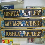US Navy Joshua Appleby Boat Plaques with Custom Hand Carved Foam Accents set